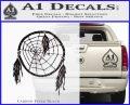 Dream Catcher Decal Sticker Carbon FIber Black Vinyl 120x97