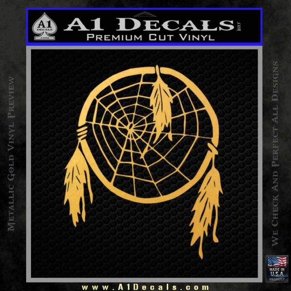 Dream Catcher Decal Sticker Gold Vinyl