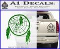 Dream Catcher Decal Sticker Green Vinyl Logo 120x97