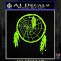 Dream Catcher Decal Sticker Lime Green Vinyl 120x120