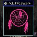 Dream Catcher Decal Sticker Pink Hot Vinyl 120x120
