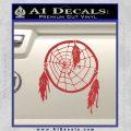 Dream Catcher Decal Sticker Red 120x120