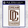 Dream Chasers Logo Meek Mill Decal Sticker BROWN Vinyl 120x120