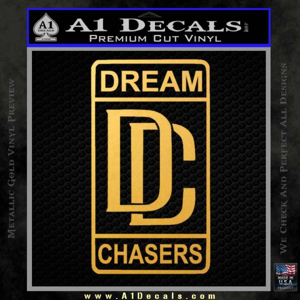 Dream Chasers Logo Meek Mill Decal Sticker Gold Vinyl
