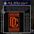 Dream Chasers Logo Meek Mill Decal Sticker Orange Emblem 120x120