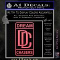 Dream Chasers Logo Meek Mill Decal Sticker Pink Emblem 120x120