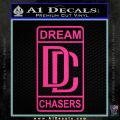 Dream Chasers Logo Meek Mill Decal Sticker Pink Hot Vinyl 120x120
