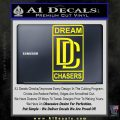 Dream Chasers Logo Meek Mill Decal Sticker Yellow Laptop 120x120
