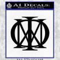 Dream Theater Decal Sticker Black Vinyl 120x120