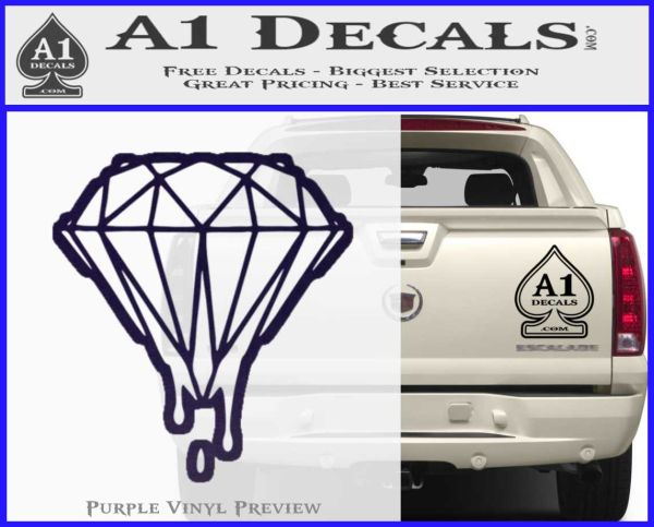 Dripping Diamond D2 Decal Sticker 187 A1 Decals