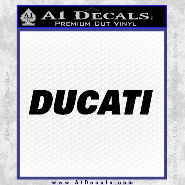Ducati Block Decal Sticker Black Vinyl