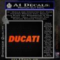 Ducati Block Decal Sticker Orange Emblem 120x120