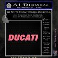 Ducati Block Decal Sticker Pink Emblem 120x120