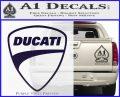 Ducati Motorcycle Decal Sticker DH PurpleEmblem Logo 120x97