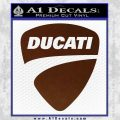 Ducati Motorcycles Decal Sticker DS BROWN Vinyl 120x120