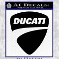 Ducati Motorcycles Decal Sticker DS Black Vinyl 120x120