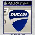 Ducati Motorcycles Decal Sticker DS Blue Vinyl 120x120