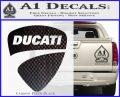 Ducati Motorcycles Decal Sticker DS Carbon FIber Black Vinyl 120x97