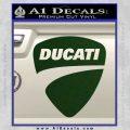 Ducati Motorcycles Decal Sticker DS Dark Green Vinyl 120x120