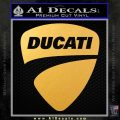 Ducati Motorcycles Decal Sticker DS Gold Vinyl 120x120