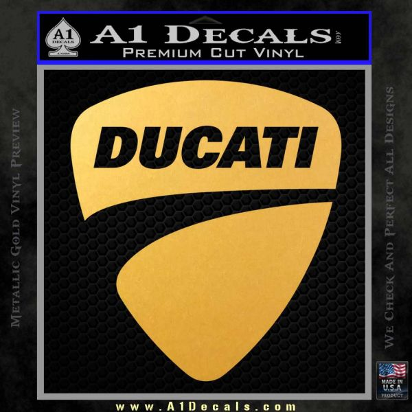 Ducati Motorcycles Decal Sticker DS Gold Vinyl
