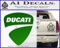 Ducati Motorcycles Decal Sticker DS Green Vinyl Logo 120x97