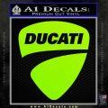 Ducati Motorcycles Decal Sticker DS Lime Green Vinyl 120x120