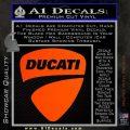 Ducati Motorcycles Decal Sticker DS Orange Emblem 120x120