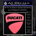 Ducati Motorcycles Decal Sticker DS Pink Emblem 120x120