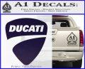 Ducati Motorcycles Decal Sticker DS PurpleEmblem Logo 120x97