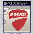 Ducati Motorcycles Decal Sticker DS Red 120x120