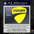 Ducati Motorcycles Decal Sticker DS Yellow Laptop 120x120