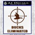 Ducks Unlimited Decal Sticker Eliminated BROWN Vinyl 120x120