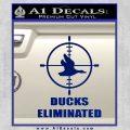 Ducks Unlimited Decal Sticker Eliminated Blue Vinyl 120x120