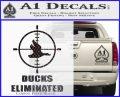 Ducks Unlimited Decal Sticker Eliminated Carbon FIber Black Vinyl 120x97