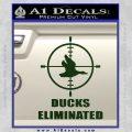 Ducks Unlimited Decal Sticker Eliminated Dark Green Vinyl 120x120