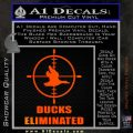 Ducks Unlimited Decal Sticker Eliminated Orange Emblem 120x120