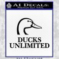 Ducks Unlimited Decal Sticker Full Black Vinyl 120x120