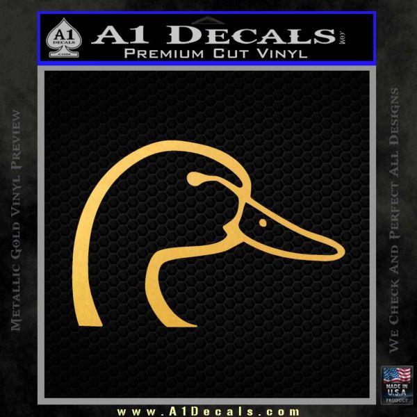 Ducks Unlimited Decal Sticker Head Gold Vinyl