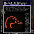Ducks Unlimited Decal Sticker Head Orange Emblem 120x120