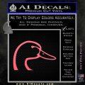 Ducks Unlimited Decal Sticker Head Pink Emblem 120x120
