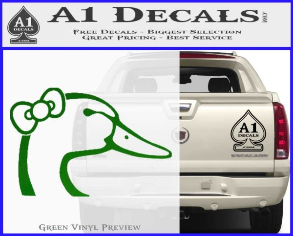 Ducks Unlimited Hello Kitty Bow Decal Sticker  A Decals - Bow custom vinyl decals for car
