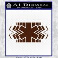 EMS Decal Sticker Wide BROWN Vinyl 120x120