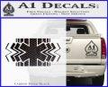 EMS Decal Sticker Wide Carbon FIber Black Vinyl 120x97