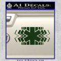 EMS Decal Sticker Wide Dark Green Vinyl 120x120
