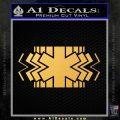 EMS Decal Sticker Wide Gold Vinyl 120x120