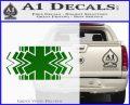EMS Decal Sticker Wide Green Vinyl Logo 120x97