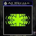 EMS Decal Sticker Wide Lime Green Vinyl 120x120