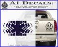 EMS Decal Sticker Wide PurpleEmblem Logo 120x97