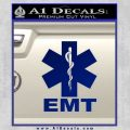 EMT Decal Sticker Full Blue Vinyl 120x120